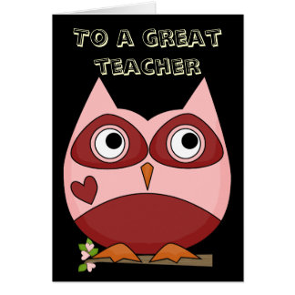 Great Teacher Thank You Card