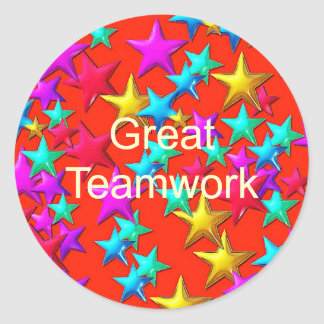 Great Teamwork Star Sticker