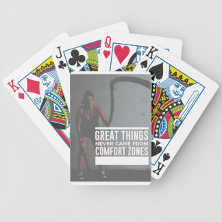 Great Things Never Came From Comfort Zones Bicycle Playing Cards