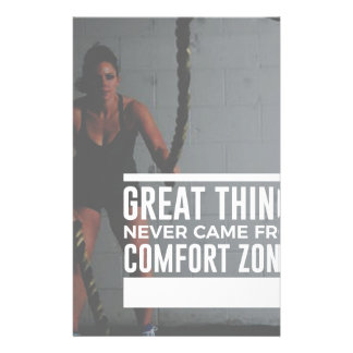 Great Things Never Came From Comfort Zones Stationery