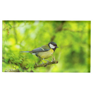 Great tit, parus major table number holder