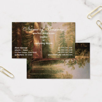 Great Trees, Mariposa Grove, California, Bierstadt Business Card