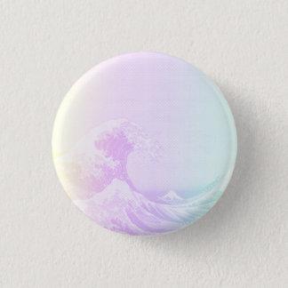Great Vaporwave Off Kanagawa Badge 1 Inch Round Button