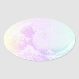 Great Vaporwave Off Kanagawa Sticker