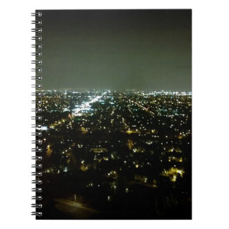 Great View Overlooking the City Lights at Night Spiral Note Book
