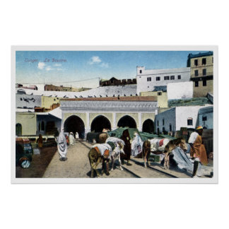 Great vintage Morocco Tangier customs office Poster