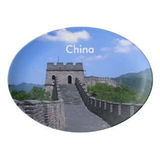 Great Wall in China Porcelain Serving Platter