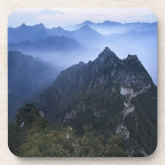 Great Wall in early morning mist, China Beverage Coasters