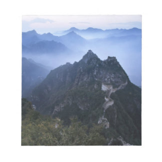 Great Wall in early morning mist, China Memo Pad
