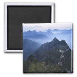 Great Wall in early morning mist, China Square Magnet