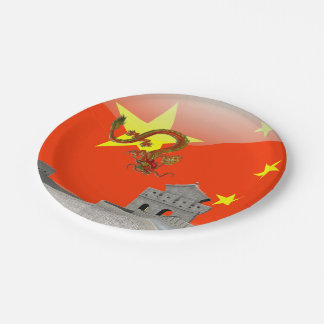 Great Wall of China 7 Inch Paper Plate