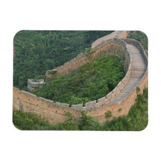 Great Wall of China at Jinshanling, China. Rectangular Photo Magnet