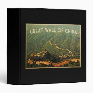 Great Wall Of China Binder