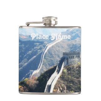 Great Wall of China Hip Flasks