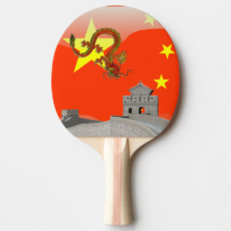 Great Wall of China Ping-Pong Paddle