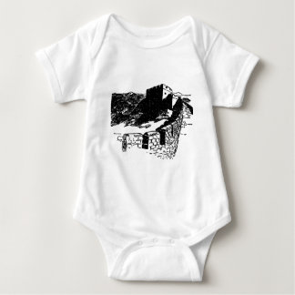Great Wall of China Sketch Baby Bodysuit