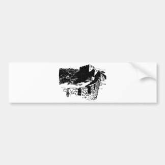 Great Wall of China Sketch Bumper Sticker