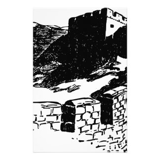 Great Wall of China Sketch Stationery