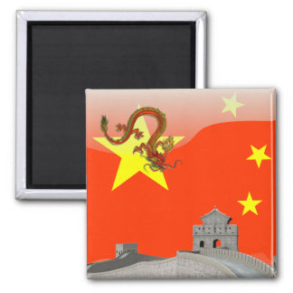 Great Wall of China Square Magnet