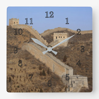 Great Wall Of China Square Wall Clock