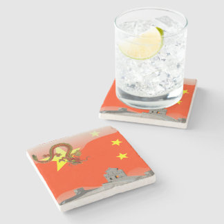 Great Wall of China Stone Beverage Coaster