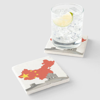 Great wall of China Stone Coaster