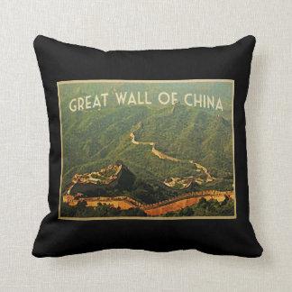 Great Wall Of China Throw Pillows