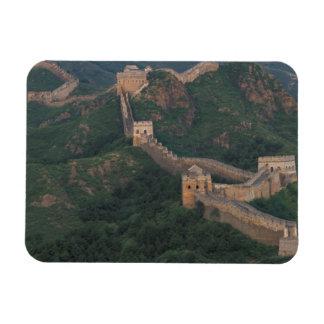 Great Wall winding through mountains. Rectangular Photo Magnet
