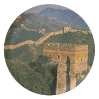 Great Wall winding through the mountain, China Dinner Plates