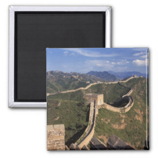 Great Wall winding through the mountain, Fridge Magnets