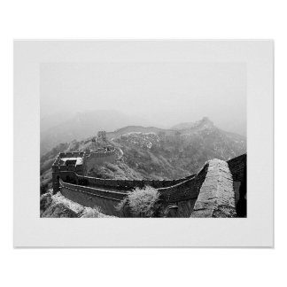 Great Wall with Snow Poster