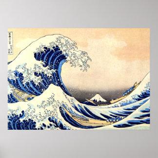 great wave hokusai poster
