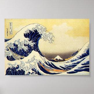 Great Wave of Hokusawa Poster