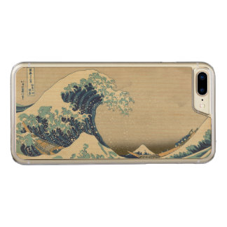 Great Wave off Kanagawa by Hokusai GalleryHD Art Carved iPhone 8 Plus/7 Plus Case