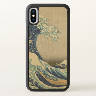 Great Wave off Kanagawa by Hokusai GalleryHD Art iPhone X Case