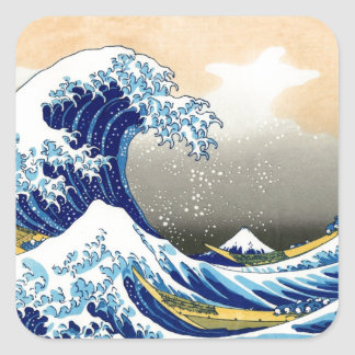 Great Wave off Kanagawa ~ Hokusai Square Sticker