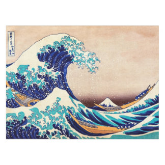 Great Wave Off Kanagawa Japanese Vintage Fine Art Tablecloth