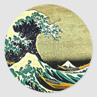 Great Wave off Kanagawa - Katsushika Hokusai 1832 Classic Round Sticker