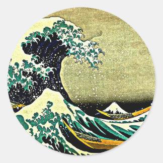 Great Wave off Kanagawa - Katsushika Hokusai 1832 Round Sticker