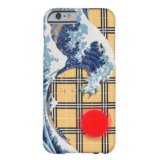 Great Wave off Kanagawa on a Tartan Matrix Barely There iPhone 6 Case