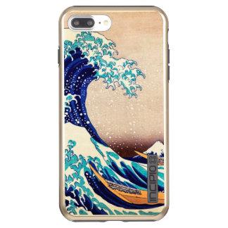 Great Wave Off Kanagawa Vintage Japanese Art Incipio DualPro Shine iPhone 8 Plus/7 Plus Case
