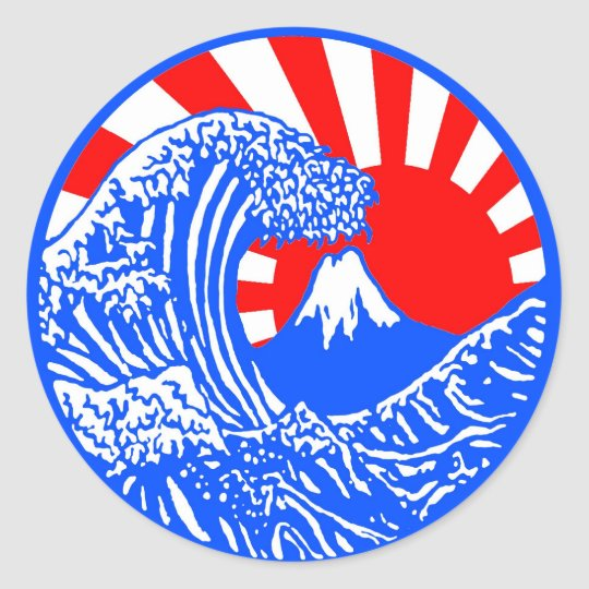 Great Wave & Rising Sun Stickers