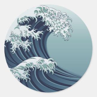 Great Wave Round Sticker