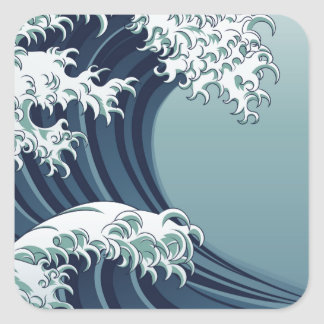Great Wave Square Sticker