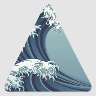 Great Wave Triangle Sticker