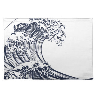 Great Wave Vintage Style Woodcut Placemat