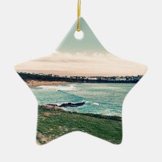Great Western Beach Newquay Ceramic Star Ornament