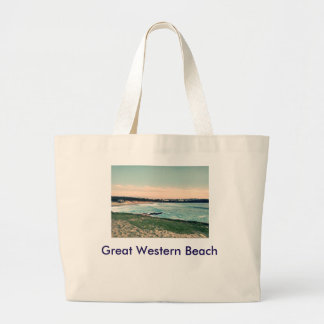 Great Western Beach Newquay Large Tote Bag