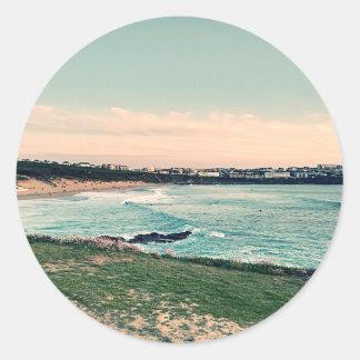 Great Western Beach Newquay Round Sticker