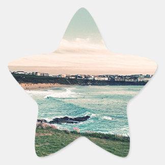 Great Western Beach Newquay Star Sticker